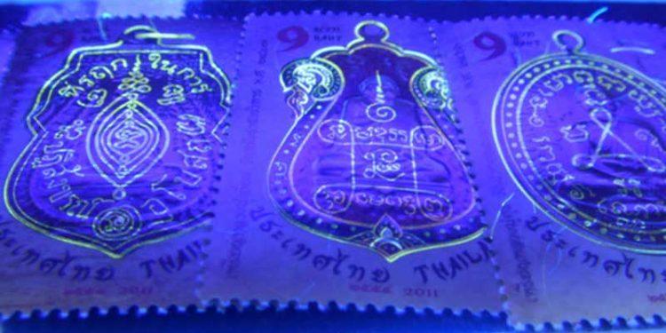 Fluorescent-stamp